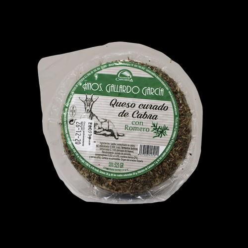 Queso curado de cabra con romero  Hermanos Gallardo García