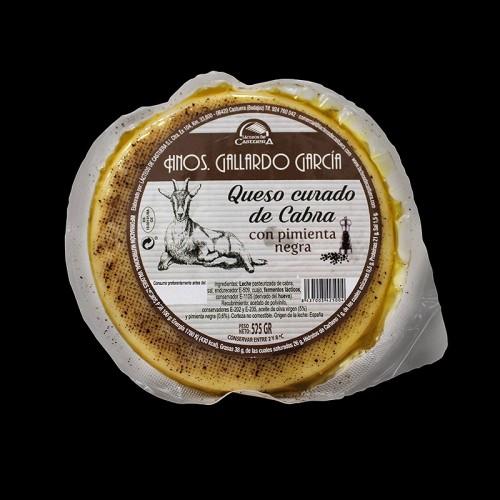Queso curado de cabra con pimienta negra Hermanos Gallardo Garcia