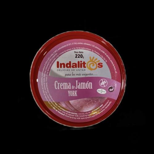 Delicias de untar. Indalitos crema de jamón york.