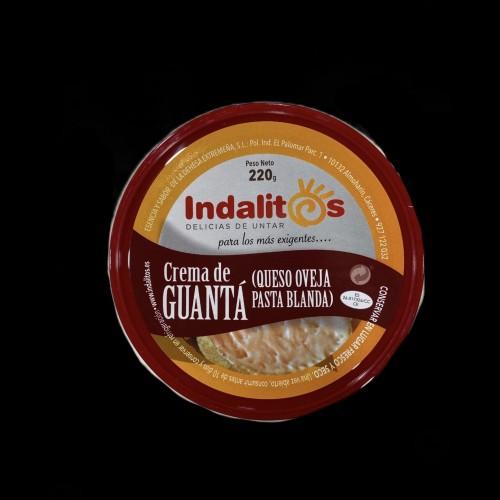 Crema de guantá queso de oveja pasta blanda indalitos
