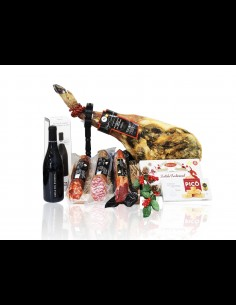 Cesta de navidad con productos ibéricos y gourmet de Extremadur